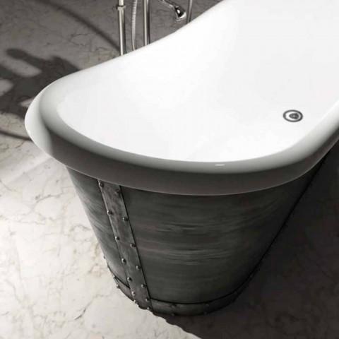 Baignoire en résine sur pied design moderne fabriquée en Italie, Furtei