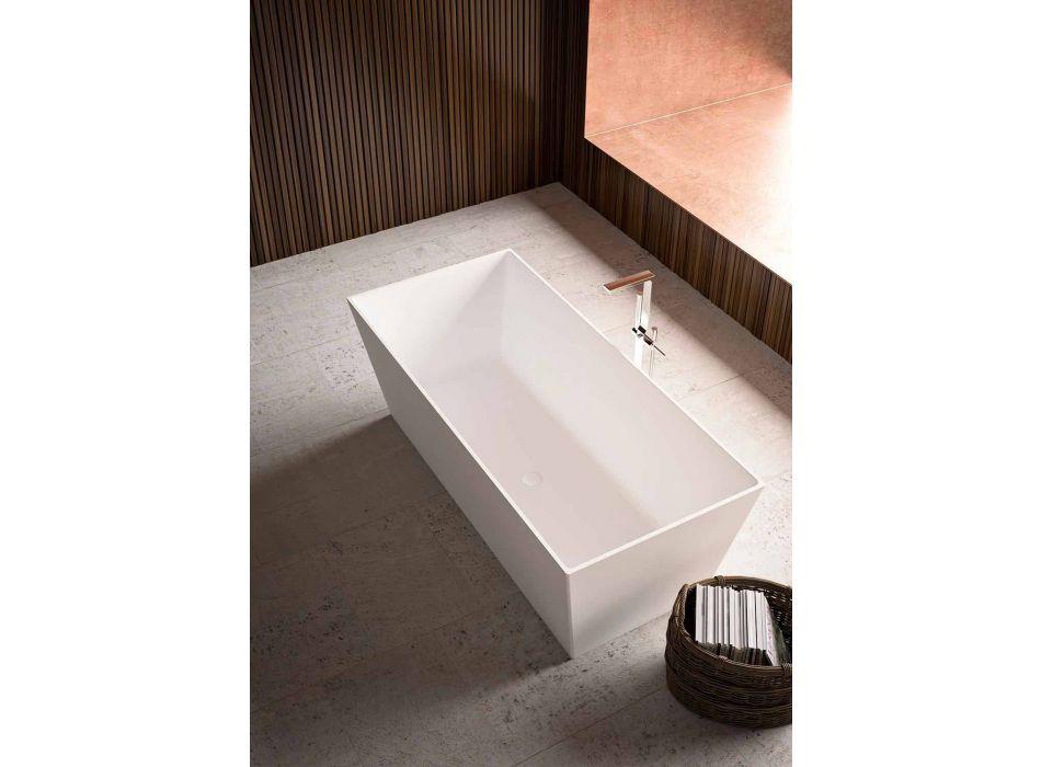 Baignoire sur pied brillant / blanc mat avec deux tailles - fil de fer