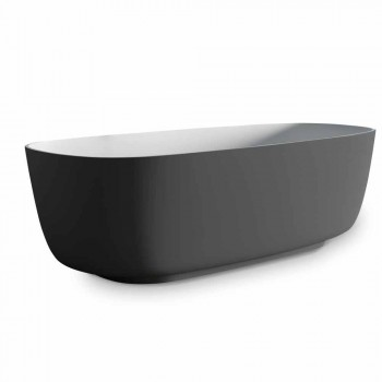 Baignoire sur pied grise bicolore, surface unie - Canossa