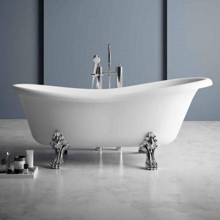 Bagnoire Ilot, Design Victorien en Solid Surface – Rain