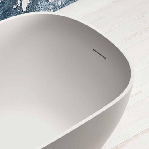 Bain autoportant moderne, design en surface solide - Lien