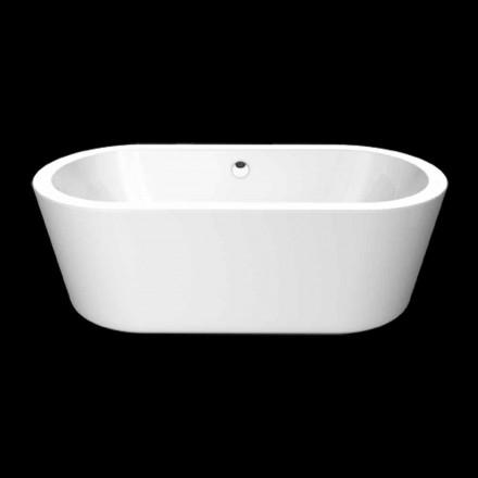 Nicole Petite baignoire autoportante en acrylique blanc 1675x777 mm