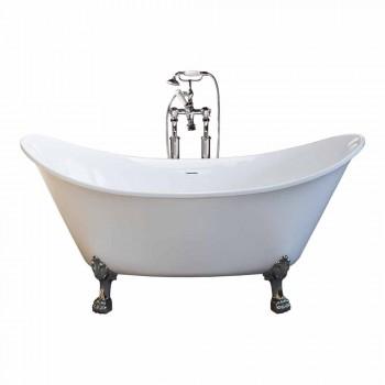 Baignoire autoportante blanche design moderne 173x75cm Katie