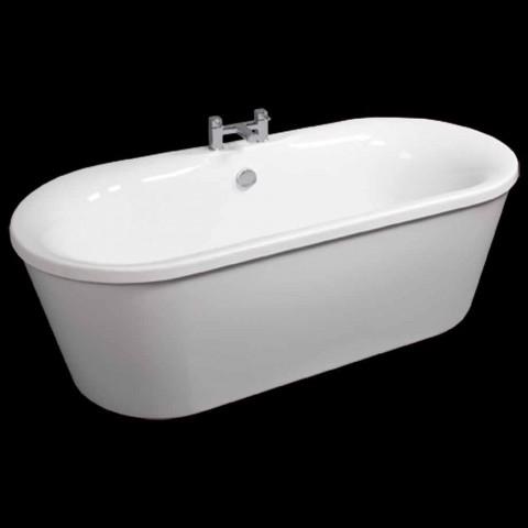 Baignoire autoportante blanche en acrylique, juin 1770x820 mm, design moderne