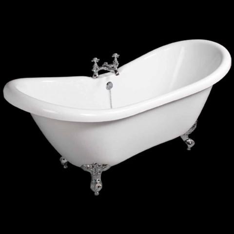 Baignoire autoportante en acrylique blanc Design moderne 1750x720mm
