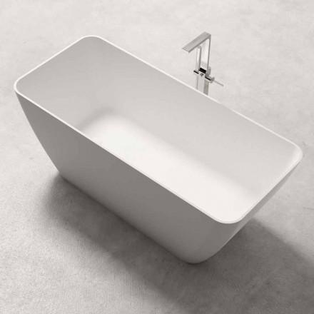 Bagnoire Ilot de Design Moderne Blanc Brillant ou Mat – Face