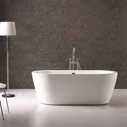 Nicole 1775x805 mm baignoire autoportante blanche en acrylique