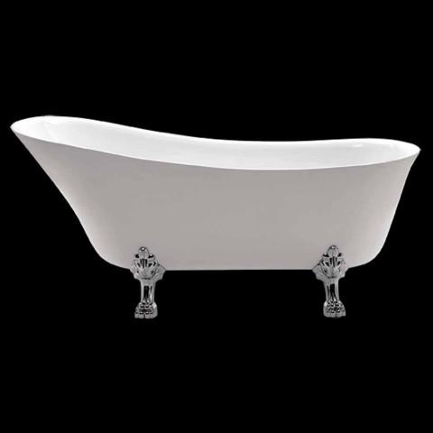 Baignoire autoportante blanche de 1700x720 mm en acrylique blanc