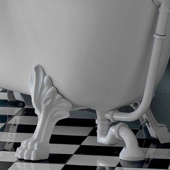 Baignoire Autoportante en Acrylique Style Vintage, Fabriquée en Italie - Tabea
