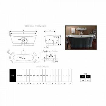 baignoire autoportante en fonte avec design original Cox