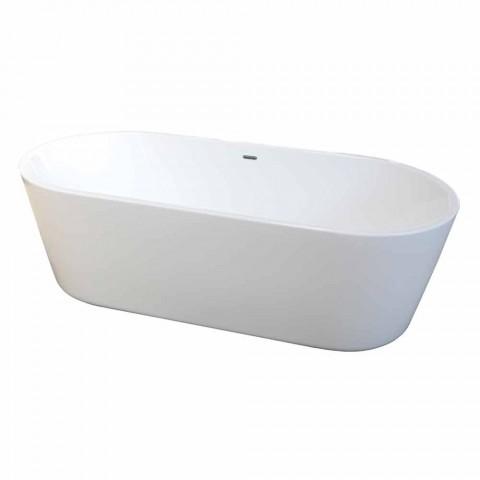 Baignoire autoportante moderne en acrylique blanc 1675x780mm Nicole2 Small