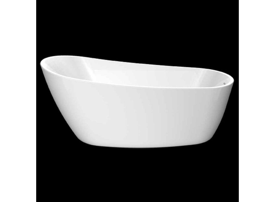 Baignoire autoportante moderne en acrylique blanc 1730x775 mm Abbie