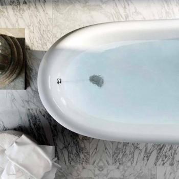 Baignoire en résine bleue autoportante au design classique, Fregona