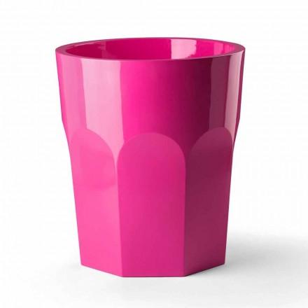 Grand vase décoratif en forme de verre en polyéthylène fabriqué en Italie - Pucca