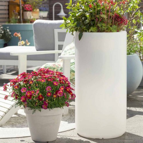 Vase avec éclairage de jardin ou salon design moderne coloré - Cilindrostar