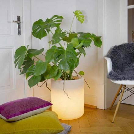 Vase avec éclairage solaire ou design LED pour intérieur ou extérieur - Cilindrostar