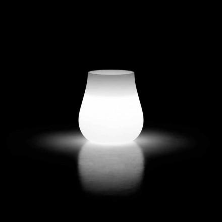 Vase lumineux pour design extérieur Drop en polyéthylène fabriqué en Italie - Monita
