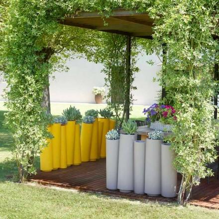 Vase décoratif d'extérieur Slide Bamboo de conception moderne, fabriqué en Italie