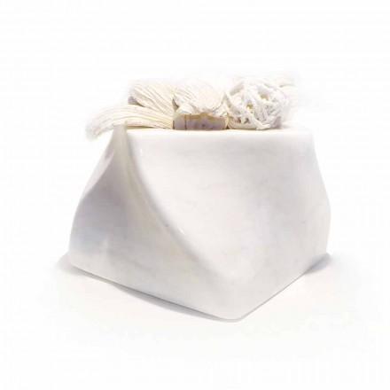Vase Design Décoratif en Bardiglio ou Marbre de Carrare Made in Italy - Prisma