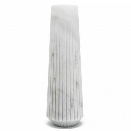 Vase décoratif moderne en marbre blanc de Carrare fabriqué en Italie - Le Caire