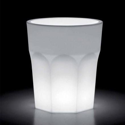 Vase lumineux décoratif en polyéthylène avec lumière LED Made in Italy - Pucca