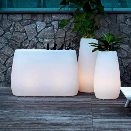 Jardinière Vase en plastique lumineux, Design en 3 tailles, 2 pièces - Pandora par Myyour