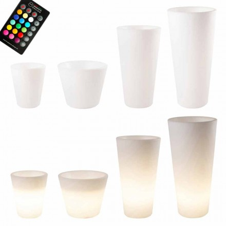 Pot lumineux LED multicolore ou solaire pour jardin ou salon - Vasostar