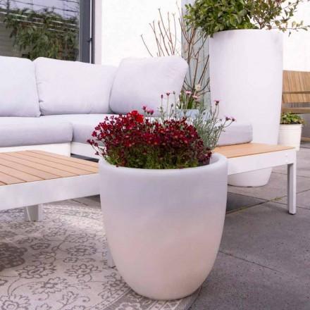 Vase extérieur et intérieur lumineux design en polyéthylène coloré - Svasostar