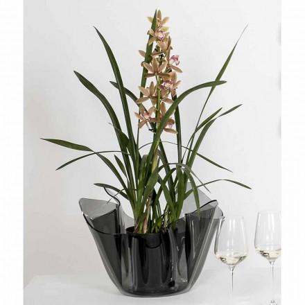 Vase fumé drapé de design moderne intérieur/extérieur Pina