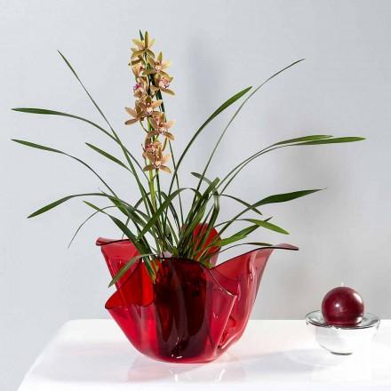 Vase multi-usages rouge intérieur/extérieur Pina, fait en Italie