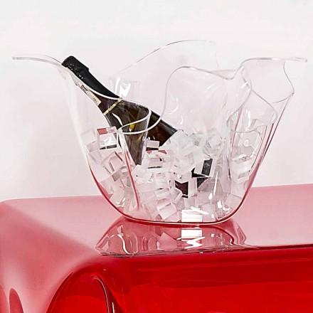 Vase multi-usages transparent de design intérieur/extérieur Pina