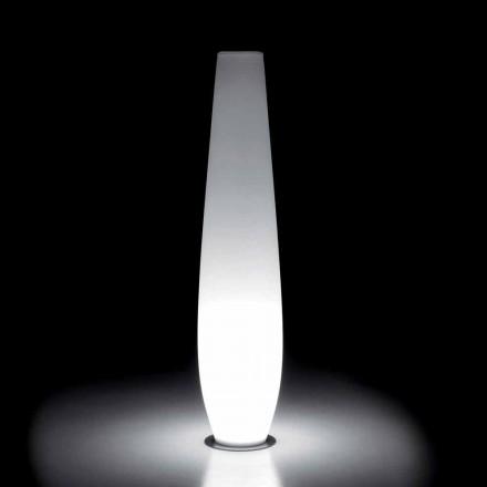 Vase lumineux d'extérieur avec éclairage LED en polyéthylène fabriqué en Italie - Nadai
