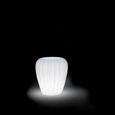 Vase d'extérieur lumineux au design moderne en polyéthylène, 2 pièces - Skin par Myyour