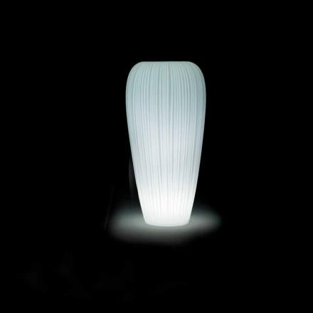 Vase d'extérieur lumineux en polyéthylène au design moderne - Skin par Myyour