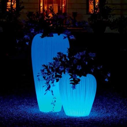 Vase lumineux de design moderne avec batterie à induction RGBW - Skin by Myyour