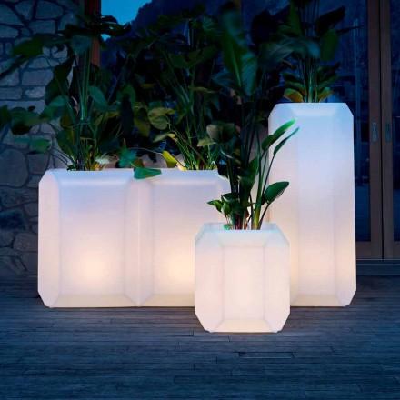Vase lumineux en plastique pour extérieur ou intérieur, 3 tailles, 2 pièces - Gem by Myyour
