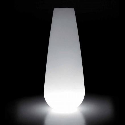 Vase lumineux pour design extérieur en polyéthylène fabriqué en Italie - Menea