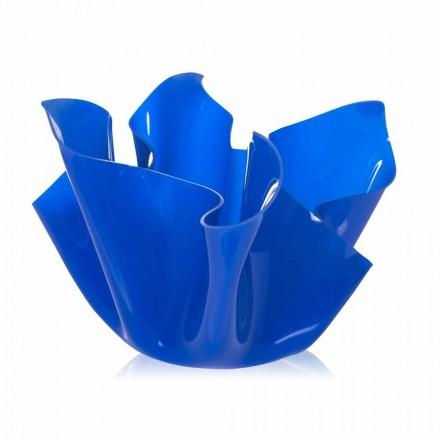 Vase multi-usages bleu intérieur/extérieur Pina, fait en Italie