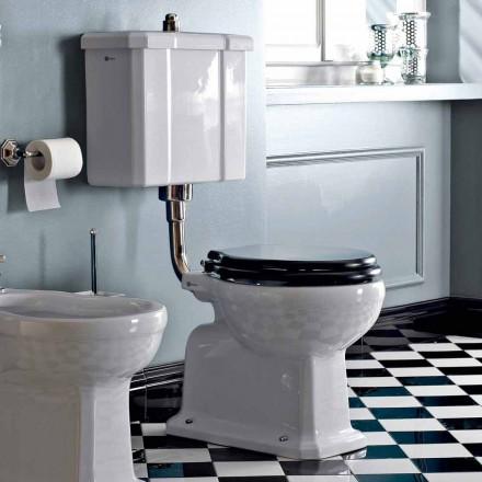 WC au sol avec cassette céramique et siège noir Made in Italy - Marwa