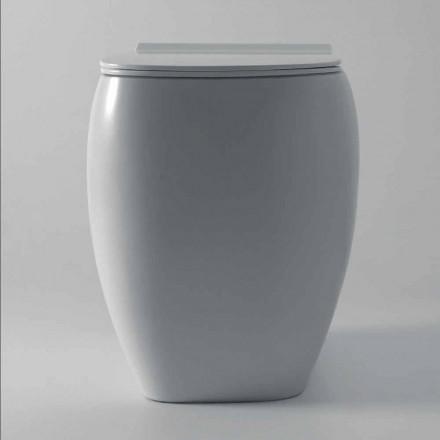 Vase de toilette en céramique blanche au design moderne Gais, fabriqué en Italie