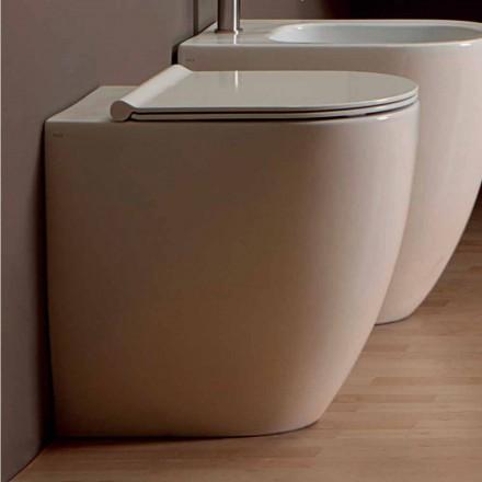 Vase de toilette en céramique blanche au design moderne Shine Square H50 sans monture