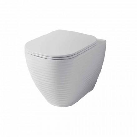 Vase de toilette design en céramique Trabia blanche ou colorée