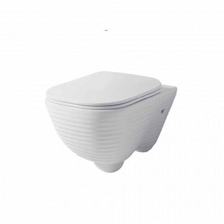 Vase de toilette suspendu moderne en céramique Trabia blanche ou colorée