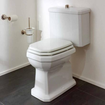 Pot de toilette en céramique blanche avec cassette, fabriqué en Italie - Nausica