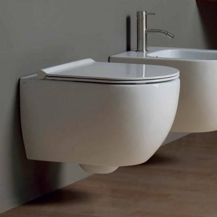 Vase WC suspendu en céramique au design moderne Star 50x35 fabriqué en Italie