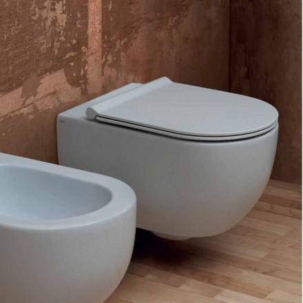 Vase de toilette suspendu en céramique au design moderne Star 55x35 fabriqué en Italie