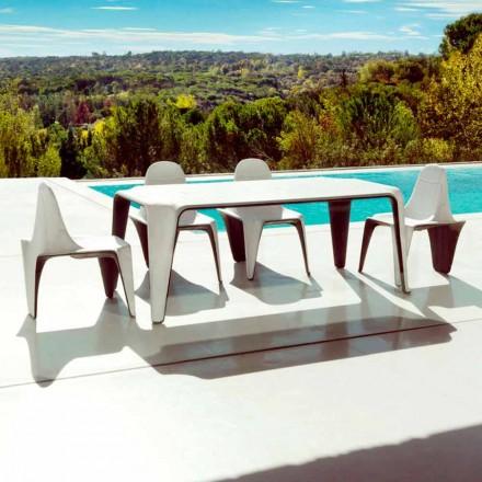 Vondom F3 table basse de jardin L190xP90cm en polyéthylène, de design
