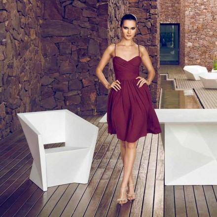 Vondom Faz fauteuil de jardin laqué blanc, de design moderne