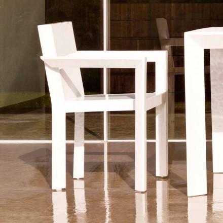 Vondom Frame chaise de jardin avec accoudoirs, résine de polyéthylène