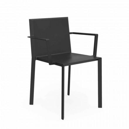 Vondom Quartz chaise avec accoudoirs de jardin, design, L52xP57xH79cm